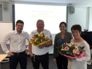 von links nach rechts: Niels van Well, Peter Kamperhoff, Katrin Kampmann und Ina Altenhoff