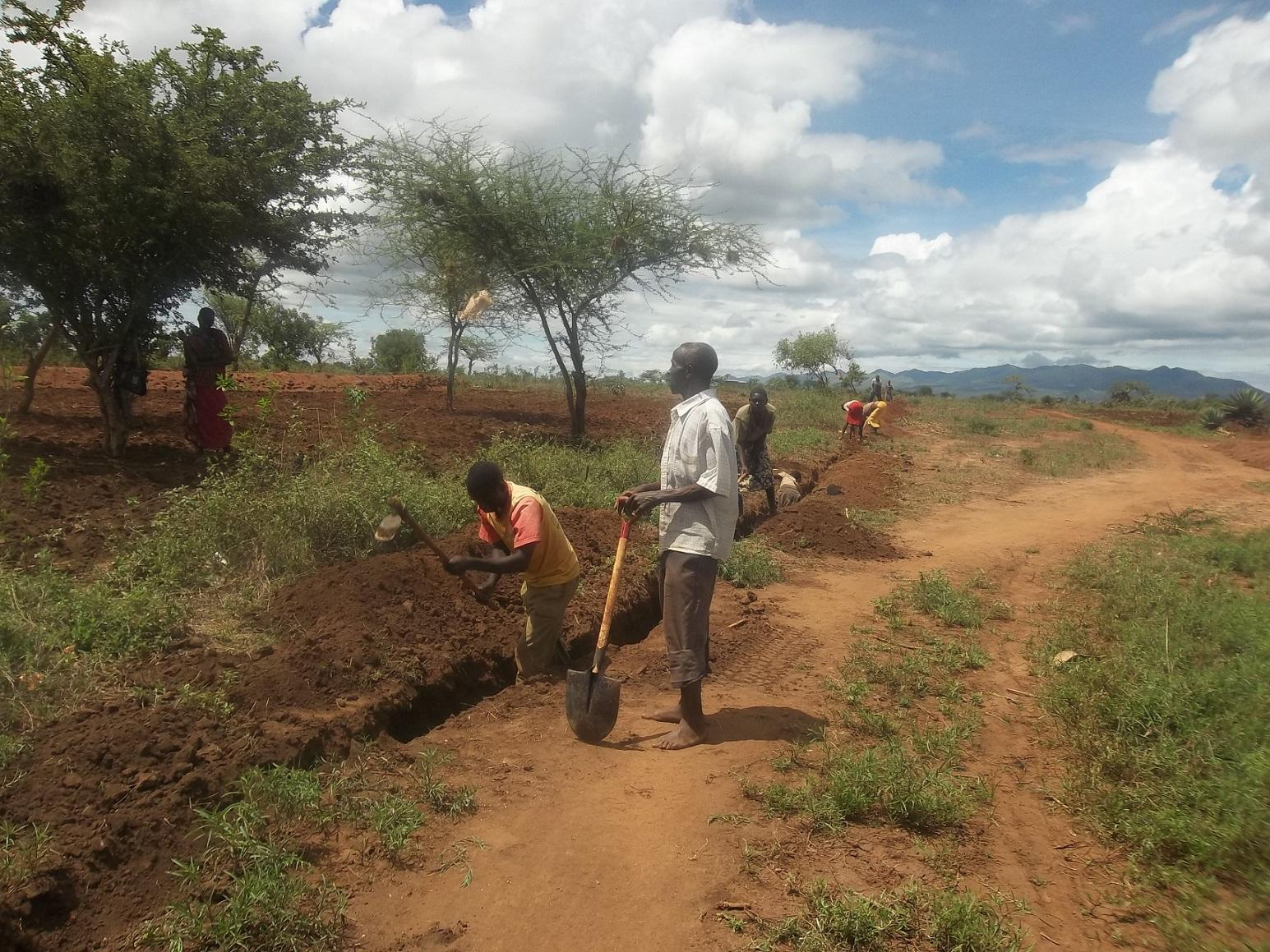Katangini trenching in progress 1